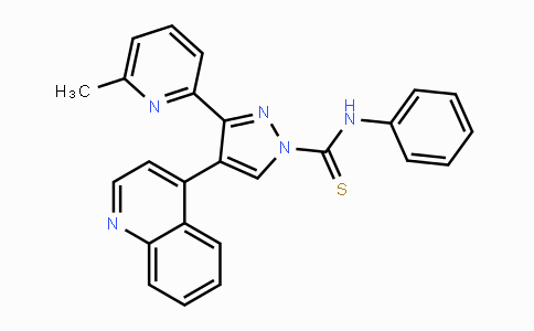 909910-43-6 | 3-(6-methylpyridin-2-yl)-N-phenyl-4-(quinolin-4-yl)-1H-pyrazole-1-carbothioamide
