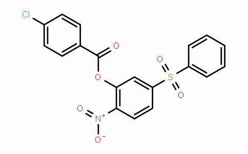219793-45-0 | 2-nitro-5-(phenylsulfonyl)phenyl 4-chlorobenzoate