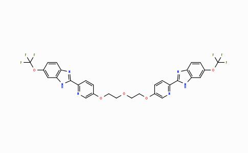 1256094-72-0 | 2,2'-(5,5'-((oxybis(ethane-2,1-diyl))bis(oxy))bis(pyridine-5,2-diyl))bis(6-(trifluoromethoxy)-1H-benzo[d]imidazole)