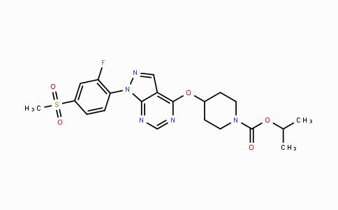 832714-46-2 | isopropyl 4-((1-(2-fluoro-4-(methylsulfonyl)phenyl)-1H-pyrazolo[3,4-d]pyrimidin-4-yl)oxy)piperidine-1-carboxylate