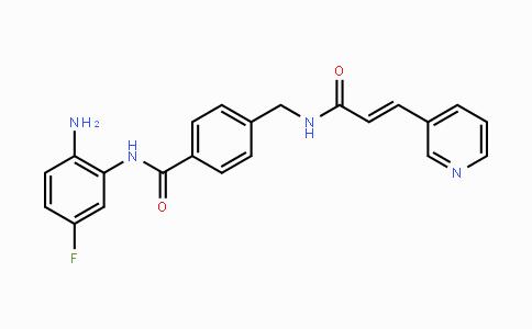 743420-02-2   (E)-N-(2-amino-5-fluorophenyl)-4-((3-(pyridin-3-yl)acrylamido)methyl)benzamide