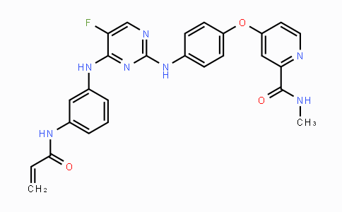 1202759-32-7 | 4-(4-((4-((3-acrylamidophenyl)amino)-5-fluoropyrimidin-2-yl)amino)phenoxy)-N-methylpicolinamide