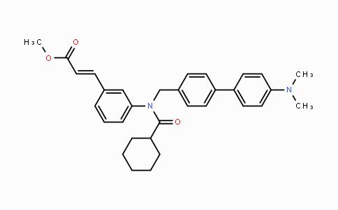 MC443013 | 574013-66-4 | (E)-methyl 3-(3-(N-((4'-(dimethylamino)-[1,1'-biphenyl]-4-yl)methyl)cyclohexanecarboxamido)phenyl)acrylate