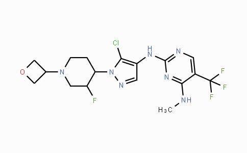 1536200-31-3 | N2-(5-chloro-1-(3-fluoro-1-(oxetan-3-yl)piperidin-4-yl)-1H-pyrazol-4-yl)-N4-methyl-5-(trifluoromethyl)pyrimidine-2,4-diamine