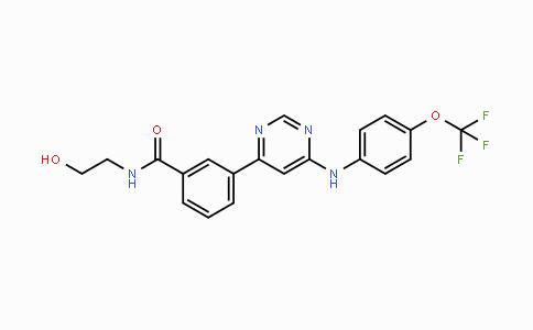 778277-15-9 | N-(2-hydroxyethyl)-3-(6-((4-(trifluoromethoxy)phenyl)amino)pyrimidin-4-yl)benzamide