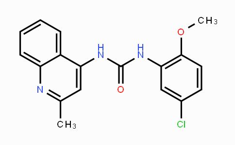 196868-63-0 | 1-(5-chloro-2-methoxyphenyl)-3-(2-methylquinolin-4-yl)urea