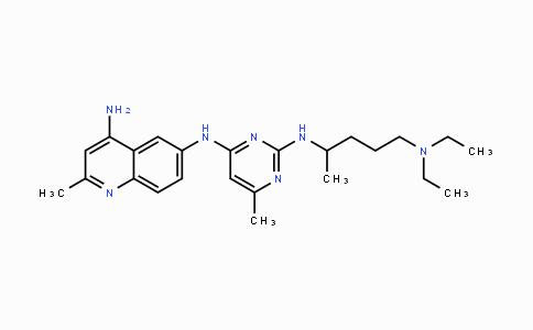 733767-34-5 | N6-(2-((5-(diethylamino)pentan-2-yl)amino)-6-methylpyrimidin-4-yl)-2-methylquinoline-4,6-diamine