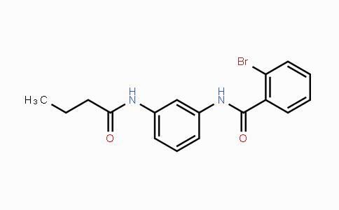 423735-93-7 | 2-bromo-N-(3-butyramidophenyl)benzamide
