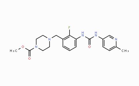 873697-71-3 | methyl 4-(2-fluoro-3-(3-(6-methylpyridin-3-yl)ureido)benzyl)piperazine-1-carboxylate