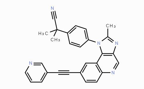 853910-02-8 | 2-methyl-2-(4-(2-methyl-8-(pyridin-3-ylethynyl)-1H-imidazo[4,5-c]quinolin-1-yl)phenyl)propanenitrile