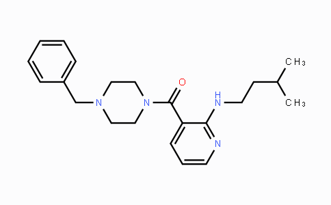 1270138-40-3 | (4-benzylpiperazin-1-yl)(2-(isopentylamino)pyridin-3-yl)methanone