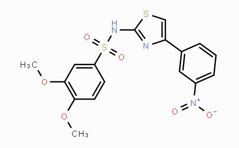 199666-03-0 | 3,4-dimethoxy-N-(4-(3-nitrophenyl)thiazol-2-yl)benzenesulfonamide
