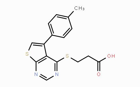 329907-28-0 | 3-((5-(p-tolyl)thieno[2,3-d]pyrimidin-4-yl)thio)propanoic acid
