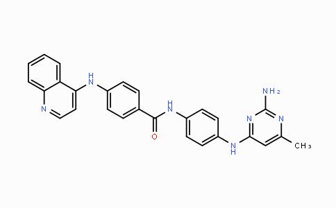 1020149-73-8 | N-(4-((2-amino-6-methylpyrimidin-4-yl)amino)phenyl)-4-(quinolin-4-ylamino)benzamide