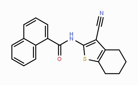 312917-14-9 | N-(3-cyano-4,5,6,7-tetrahydrobenzo[b]thiophen-2-yl)-1-naphthamide