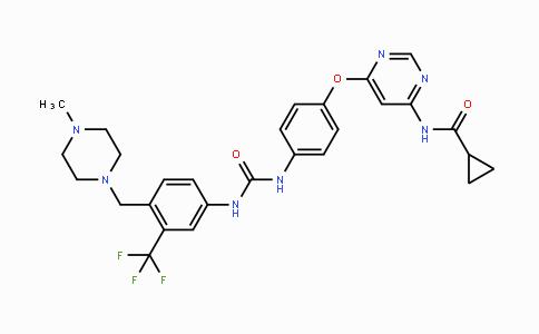 1421227-52-2 | N-(6-(4-(3-(4-((4-methylpiperazin-1-yl)methyl)-3-(trifluoromethyl)phenyl)ureido)phenoxy)pyrimidin-4-yl)cyclopropanecarboxamide