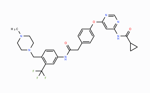 1421227-53-3 | N-(6-(4-(2-((4-((4-methylpiperazin-1-yl)methyl)-3-(trifluoromethyl)phenyl)amino)-2-oxoethyl)phenoxy)pyrimidin-4-yl)cyclopropanecarboxamide