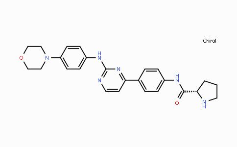 945755-56-6 | (S)-N-(4-(2-((4-morpholinophenyl)amino)pyrimidin-4-yl)phenyl)pyrrolidine-2-carboxamide