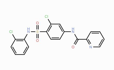 1246086-78-1 | N-(3-chloro-4-(N-(2-chlorophenyl)sulfamoyl)phenyl)picolinamide