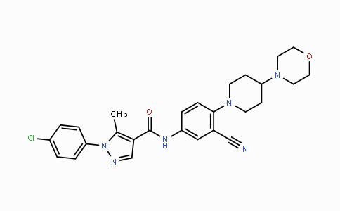 288250-47-5 | 1-(4-chlorophenyl)-N-(3-cyano-4-(4-morpholinopiperidin-1-yl)phenyl)-5-methyl-1H-pyrazole-4-carboxamide