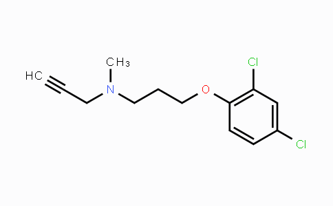 17780-75-5 | N-(3-(2,4-dichlorophenoxy)propyl)-N-methylprop-2-yn-1-amine