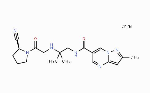 DY443071 | 739366-20-2 | (S)-N-(2-((2-(2-cyanopyrrolidin-1-yl)-2-oxoethyl)amino)-2-methylpropyl)-2-methylpyrazolo[1,5-a]pyrimidine-6-carboxamide