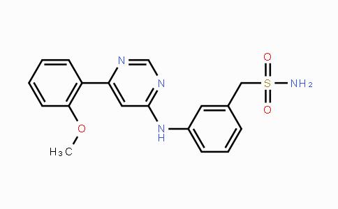 1073485-20-7   (3-((6-(2-methoxyphenyl)pyrimidin-4-yl)amino)phenyl)methanesulfonamide