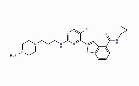 946518-61-2 | 2-(5-chloro-2-((3-(4-methylpiperazin-1-yl)propyl)amino)pyrimidin-4-yl)-N-cyclopropylbenzo[b]thiophene-4-carboxamide