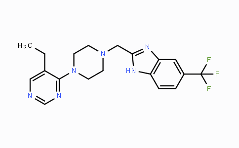 1255517-76-0 | 2-((4-(5-ethylpyrimidin-4-yl)piperazin-1-yl)methyl)-5-(trifluoromethyl)-1H-benzo[d]imidazole