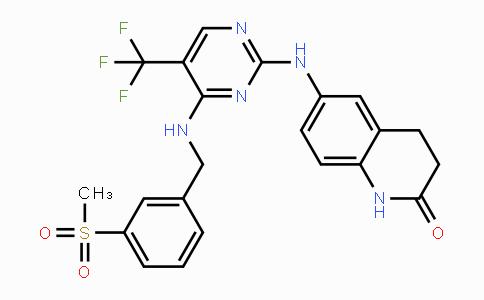 869288-64-2   6-((4-((3-(methylsulfonyl)benzyl)amino)-5-(trifluoromethyl)pyrimidin-2-yl)amino)-3,4-dihydroquinolin-2(1H)-one