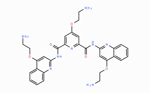 1085412-37-8 | 4-(2-aminoethoxy)-N2,N6-bis(4-(2-aminoethoxy)quinolin-2-yl)pyridine-2,6-dicarboxamide