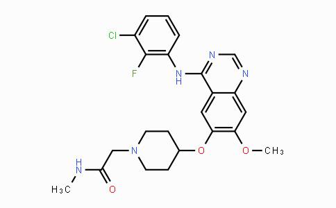 848942-61-0 | 2-(4-((4-((3-chloro-2-fluorophenyl)amino)-7-methoxyquinazolin-6-yl)oxy)piperidin-1-yl)-N-methylacetamide