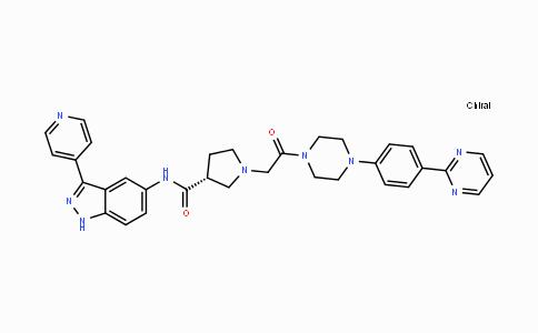 DY443109 | 942183-80-4 | (R)-1-(2-oxo-2-(4-(4-(pyrimidin-2-yl)phenyl)piperazin-1-yl)ethyl)-N-(3-(pyridin-4-yl)-1H-indazol-5-yl)pyrrolidine-3-carboxamide
