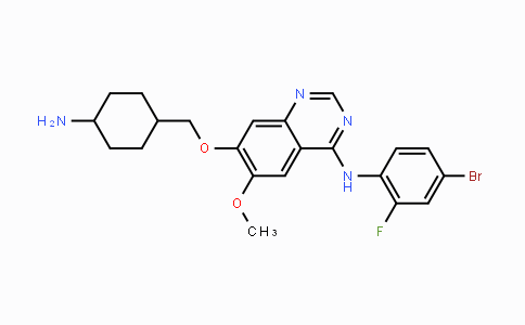 443913-73-3 | 7-((4-aminocyclohexyl)methoxy)-N-(4-bromo-2-fluorophenyl)-6-methoxyquinazolin-4-amine