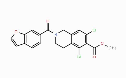 851784-92-4 | methyl 2-(benzofuran-6-carbonyl)-5,7-dichloro-1,2,3,4-tetrahydroisoquinoline-6-carboxylate