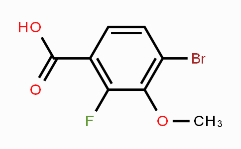 194804-92-7 | 4-bromo-2-fluoro-3-methoxybenzoic acid
