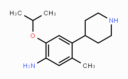 1035230-24-0 | 2-isopropoxy-5-methyl-4-(piperidin-4-yl)aniline