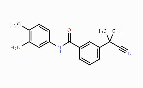 872090-71-6 | N-(3-amino-4-methylphenyl)-3-(2-cyanopropan-2-yl)benzamide