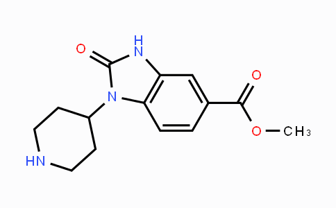 219325-18-5 | methyl 2-oxo-1-(piperidin-4-yl)-2,3-dihydro-1H-benzo[d]imidazole-5-carboxylate