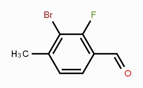 1373223-13-2 | 3-bromo-2-fluoro-4-methylbenzaldehyde