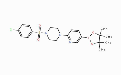1073354-20-7 | 1-(4-chlorophenylsulfonyl)-4-(5-(4,4,5,5-tetramethyl-1,3,2-dioxaborolan-2-yl)pyridin-2-yl)piperazine
