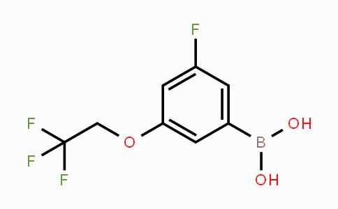 850589-55-8 | 3-fluoro-5-(2,2,2-trifluoroethoxy)phenylboronic acid
