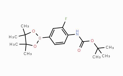 262444-42-8 | tert-butyl 2-fluoro-4-(4,4,5,5-tetramethyl-1,3,2-dioxaborolan-2-yl)phenylcarbamate