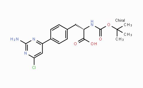 1033804-86-2 | (S)-3-(4-(2-amino-6-chloropyrimidin-4-yl)phenyl)-2-(tert-butoxycarbonylamino)propanoic acid