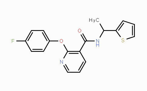 214765-91-0 | 2-(4-fluorophenoxy)-N-(1-(thiophen-2-yl)ethyl)nicotinamide