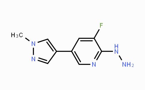 1151802-50-4 | 3-fluoro-2-hydrazinyl-5-(1-methyl-1H-pyrazol-4-yl)pyridine