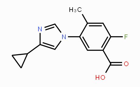 1448508-47-1 | 5-(4-cyclopropyl-1H-imidazol-1-yl)-2-fluoro-4-methylbenzoic acid