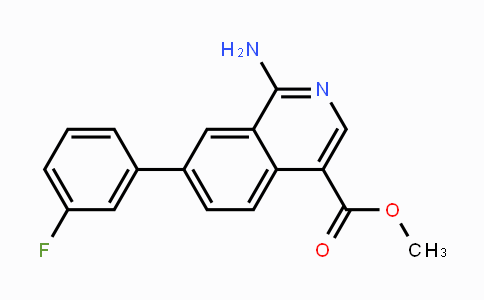 1449278-33-4 | methyl 1-amino-7-(3-fluorophenyl)isoquinoline-4-carboxylate