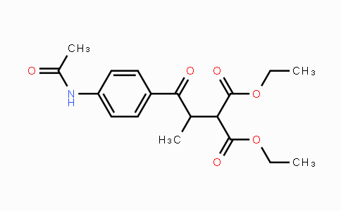 81937-39-5 | diethyl 2-(1-(4-acetamidophenyl)-1-oxopropan-2-yl)malonate