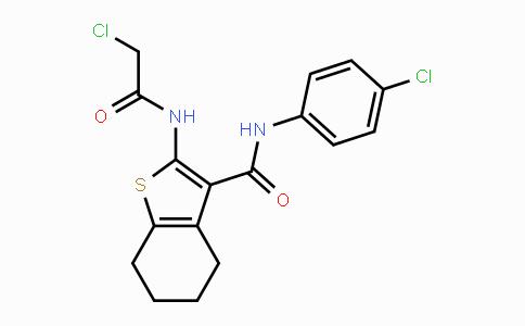 MC443745 | 721892-21-3 | 2-(2-chloroacetamido)-N-(4-chlorophenyl)-4,5,6,7-tetrahydrobenzo[b]thiophene-3-carboxamide